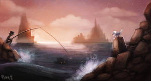 DAY 93. Fishing (30 Minutes) by Cryptid-Creations