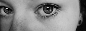 Eyes-black And White Version by VeronicaPsycho