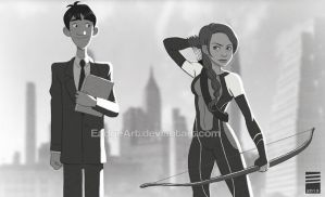 Paper HUNGER GAMES by EadgeArt