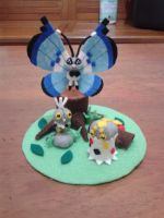 Vivillon Plush Set by ShiroKoori