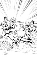 Super catfight inks by StevenHoward