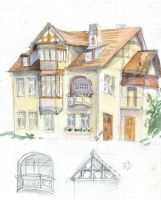 Art-nouveau Sketch from Poznan 2 by Redilion