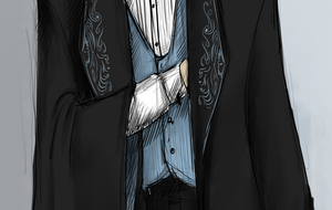 Draco Malfoy - in formal robe - detail 2 by NereaM