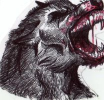 Lycan's head by FuriarossaAndMimma