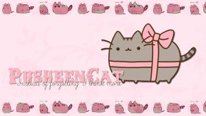 Wallpaper 005 Pusheen Cat by PuppyEditions