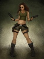 Lara Croft's Angry by dreamh