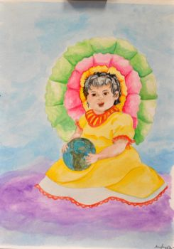 She Has the World in Her Hands by LAGiampietro