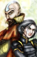 Tenzin and Bei Fong by idittansikte