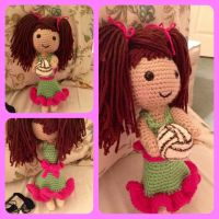 Volleyball girl amigurumi doll commission by magpie89