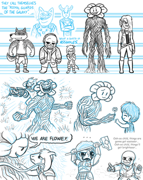 Undertale Guardians of the Galaxy by killb94