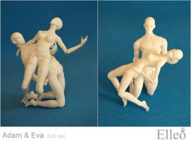 Adam Eve dance 10 by leo3dmodels