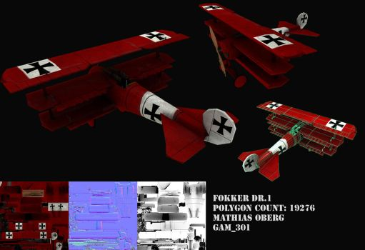 Fokker DR.1 Red Baron by Video-Game-Nerd