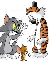 Dynamics: Hobbes, Tom + Jerry by SuperLeviathan