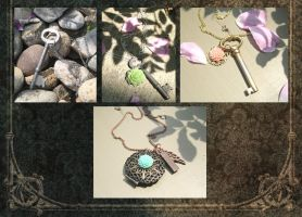 Vintage-esque Necklaces by zetallis