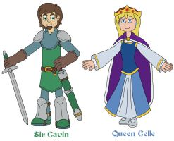 Sir Cavin and Queen Celle by MCsaurus