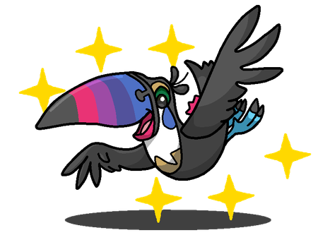 Shiny Toucannon + Toucan Sam (Froot Loops) by shawarmachine