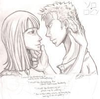 Zoro x Robin by pirateneko