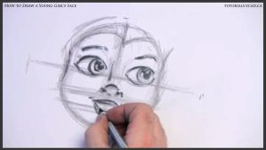 Learn How to Draw Young Girl's Face 011 by drawingcourse