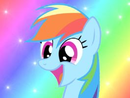 Rainbow dash smile by Slousberry