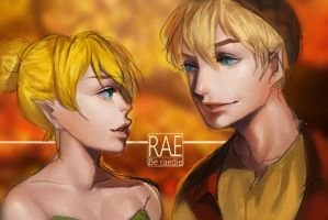Fan art Tinkerbell and Terence by Raeda-kun