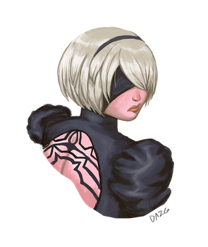 (Another) 2B portrait by Dazg