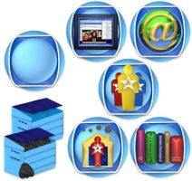 Blue indent dock icons by elsie432