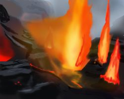 Speed Paint 022 Volcanic Area by ParjanyaVictor