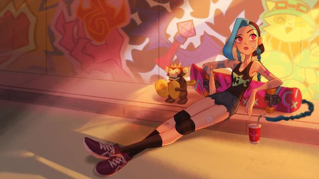 League of legend Jinx by miacat7