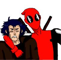 Deadpool and Wolvie by lady-assassin95