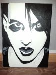 Marilyn Manson acrylic painting by ForgiftadKyss