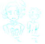Sophie and Hinata drawings by witchguy24
