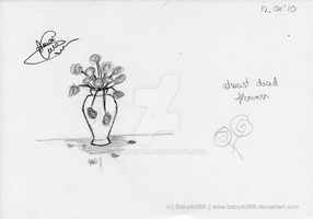 almost dead flowers sketch by KuroHiver