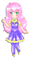 Art trade with Pink-Mari-Chan: Her Oc by MyStarryDreams