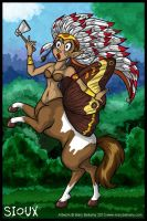 Commission Sioux Centaur by MaryBellamy