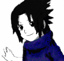 Sasuke Uchiha (experimenting with graphics tablet) by MewMewToYou