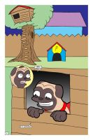 Awesome Pug Saves the Day!  Page 2 by LapisRabbitComics