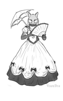 Anna in a Victorian dress by VixenDra