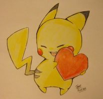 Pikachu say Valentine day is coming ! by ReelDeviant