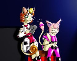 Meowth and Skitty in armor by Jeticus