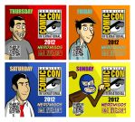 Nerdmigos Print N Play Comic-Con 2012 Badge Set by IAMO76