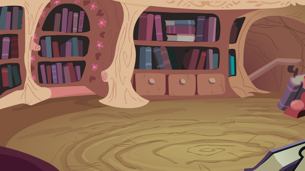Background Twilight's Library by Blanishna