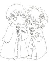 +Draco and Harry Yule Ball+ by Snapesita