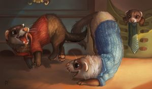 Creature Collection: Ferret by ALRadeck