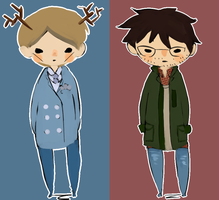 Hannibal Lecter- Will Graham by kinimoto7
