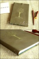 Golden Tree of Valinor Notebook by izasartshop
