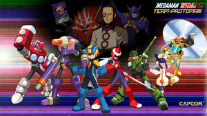 MMBN 5 Team ProtoMan Wallpaper by MegamanXstream