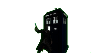 my GMOD Character and Tardis by commanderchristian