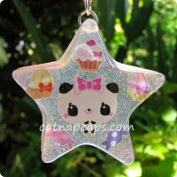 Panda Star Resin Necklace by CatNapCaps