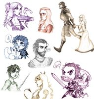 Game of Thrones doodles by TroubleTrain