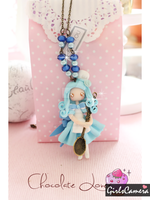 BLUE BERRY CHEESE CAKE DOLL NECKLACE by AngelicLight100